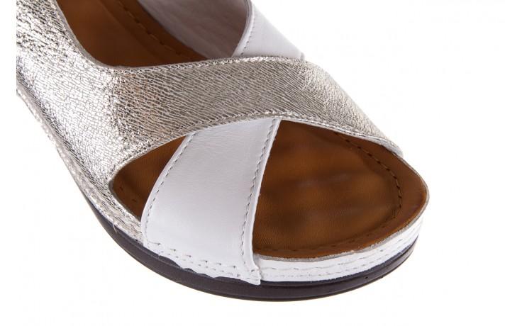 Sandały bayla-112 0158-58 white platinium, biały/srebrny, skóra naturalna  - bayla - nasze marki 6
