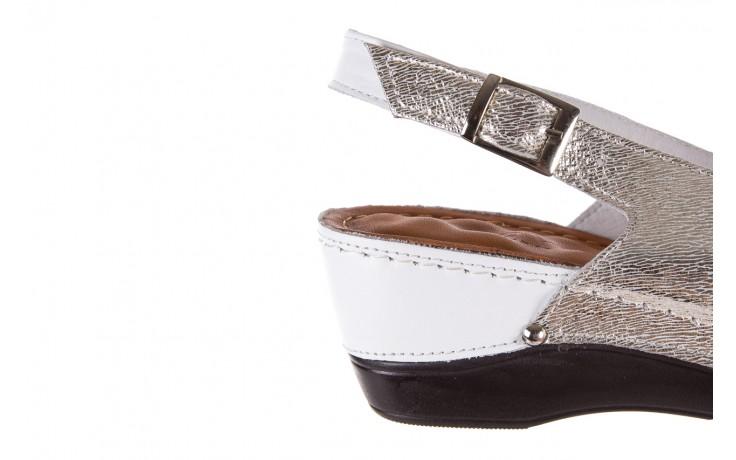 Sandały bayla-112 0158-58 white platinium, biały/srebrny, skóra naturalna  - bayla - nasze marki 5