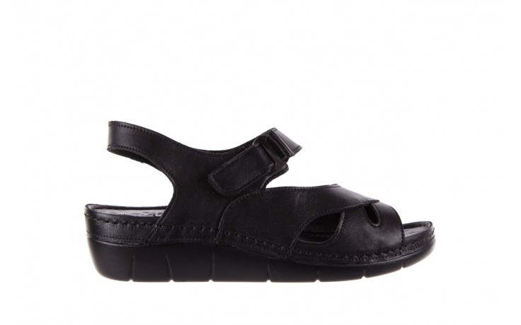 Sandały bayla-112 0348-3002 black, czarny, skóra naturalna  - sandały - letnie hity cenowe