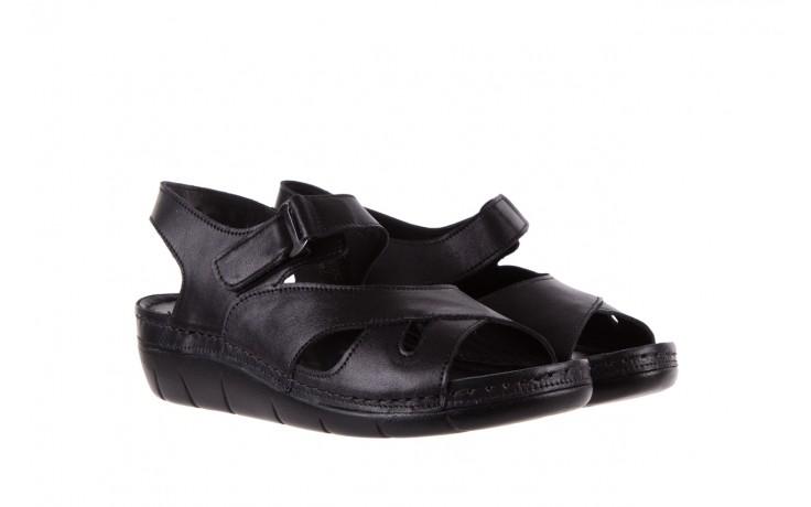 Sandały bayla-112 0348-3002 black, czarny, skóra naturalna  - sandały - letnie hity cenowe 1