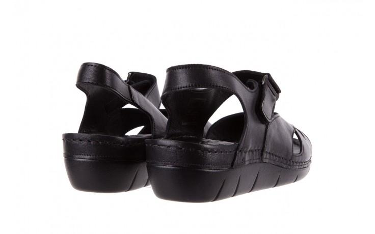 Sandały bayla-112 0348-3002 black, czarny, skóra naturalna  - sandały - letnie hity cenowe 3