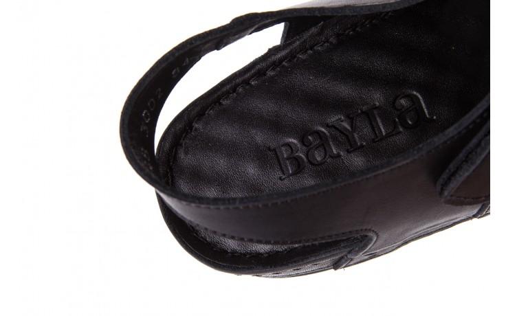 Sandały bayla-112 0348-3002 black, czarny, skóra naturalna  - sandały - letnie hity cenowe 7