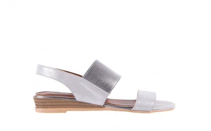 Sandały bayla-112 0410-120 white satin, biały, skóra naturalna  - koturny - buty damskie - kobieta