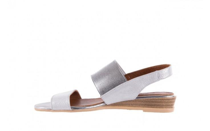 Sandały bayla-112 0410-120 white satin, biały, skóra naturalna  - koturny - buty damskie - kobieta 2