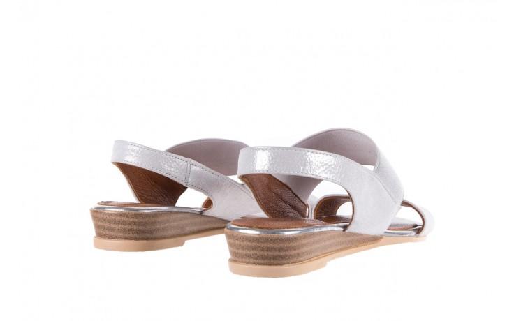 Sandały bayla-112 0410-120 white satin, biały, skóra naturalna  - koturny - buty damskie - kobieta 3