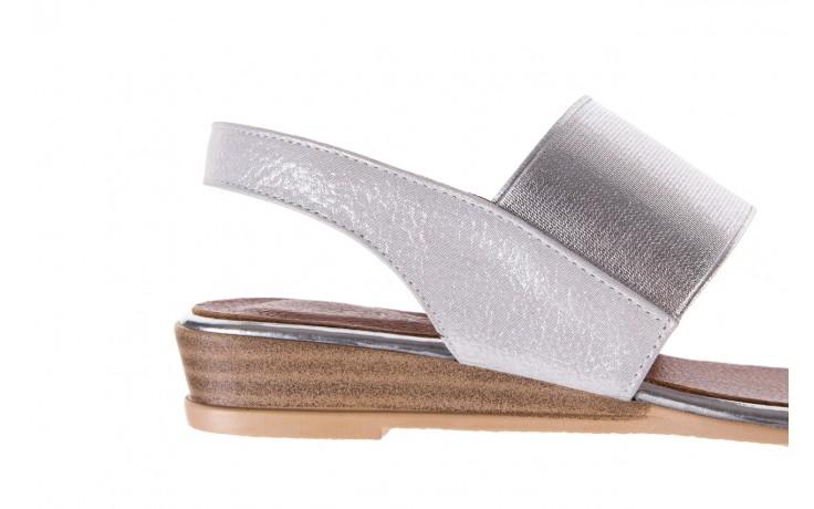 Sandały bayla-112 0410-120 white satin, biały, skóra naturalna  - koturny - buty damskie - kobieta 6