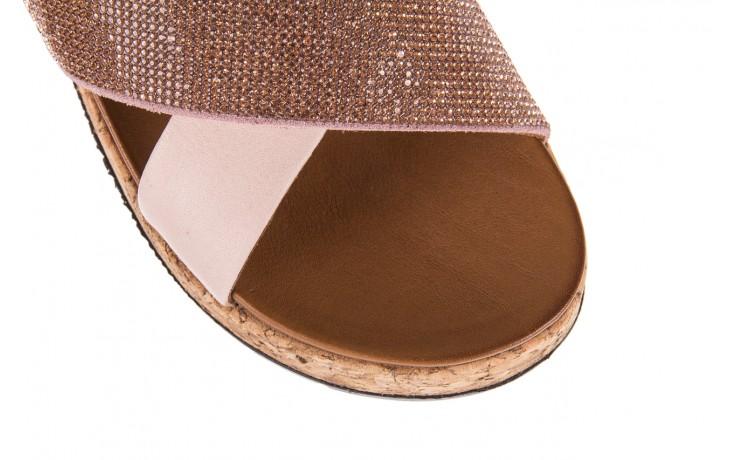 Klapki bayla-112 0396-204 powder, róż/beż, skóra naturalna  - klapki - letnie hity cenowe 5