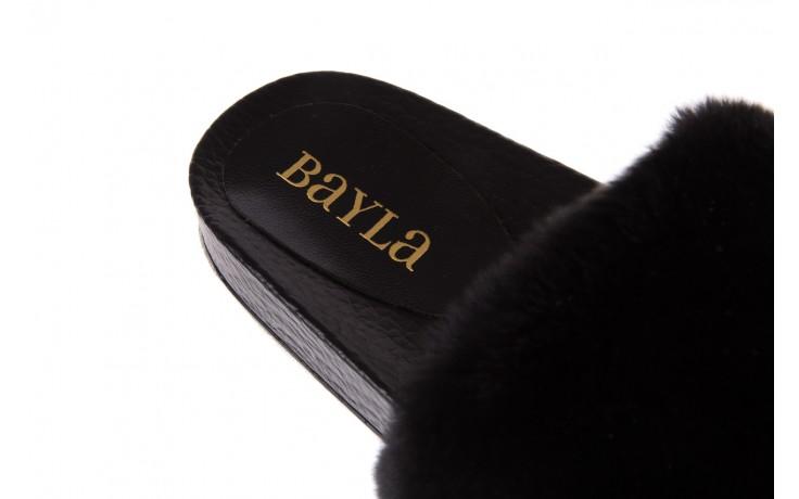 Klapki bayla-112 0479-17194 black furry, czarny, skóra naturalna  - piankowe - klapki - buty damskie - kobieta 5