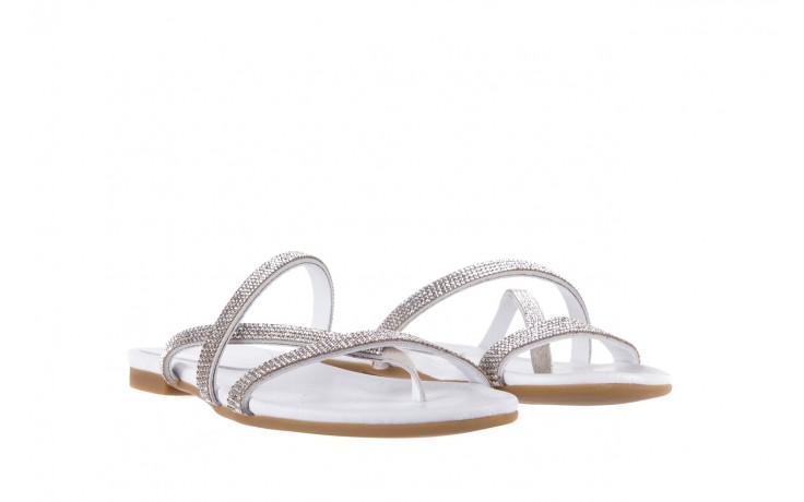 Klapki bayla-112 0396-304 white, biały, skóra naturalna 1