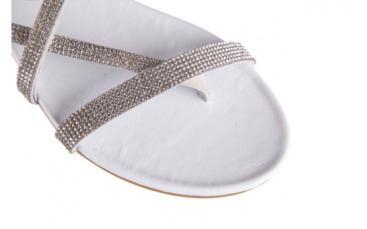 Klapki bayla-112 0396-304 white, biały, skóra naturalna 5