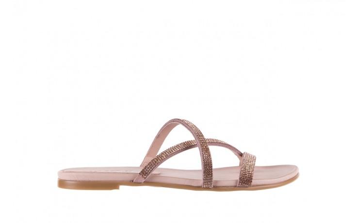 Klapki bayla-112 0396-304 powder, róż, skóra naturalna  - japonki - klapki - buty damskie - kobieta
