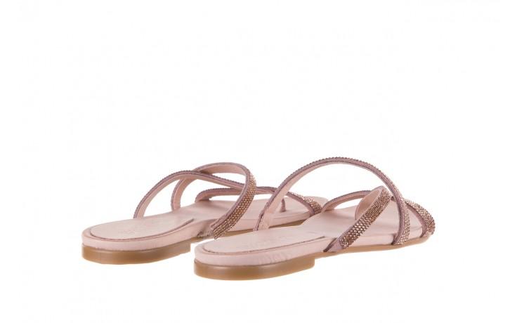 Klapki bayla-112 0396-304 powder, róż, skóra naturalna  - japonki - klapki - buty damskie - kobieta 3
