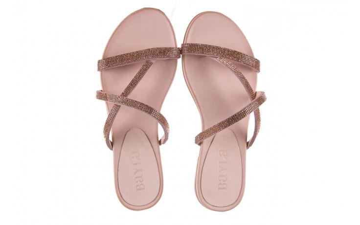 Klapki bayla-112 0396-304 powder, róż, skóra naturalna  - japonki - klapki - buty damskie - kobieta 4