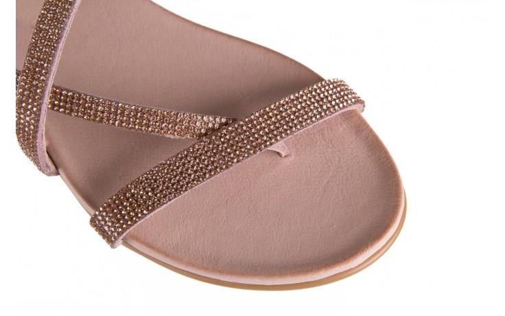 Klapki bayla-112 0396-304 powder, róż, skóra naturalna  - japonki - klapki - buty damskie - kobieta 5