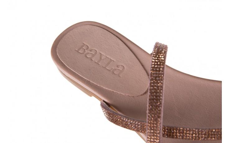 Klapki bayla-112 0396-304 powder, róż, skóra naturalna  - japonki - klapki - buty damskie - kobieta 6