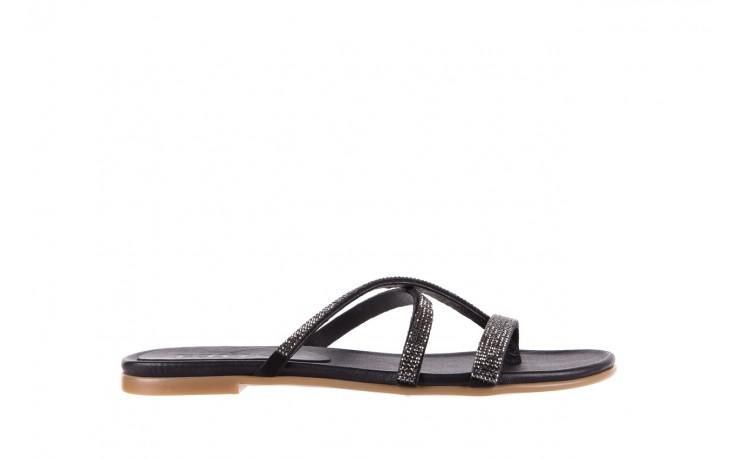 Klapki bayla-112 0396-304 black, czarny, skóra naturalna  - bayla - nasze marki