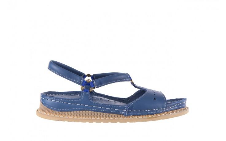 Sandały bayla-112 0089-114-8433 denim, niebieski, skóra naturalna  - bayla - nasze marki