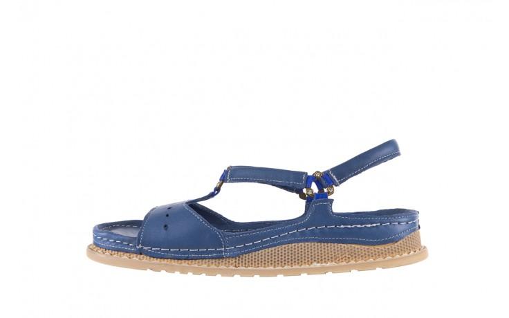 Sandały bayla-112 0089-114-8433 denim, niebieski, skóra naturalna  - bayla - nasze marki 2