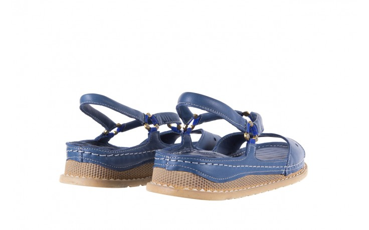 Sandały bayla-112 0089-114-8433 denim, niebieski, skóra naturalna  - bayla - nasze marki 3