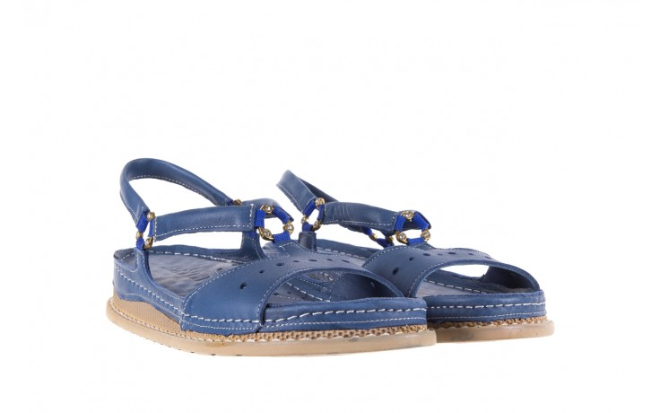 Sandały bayla-112 0089-114-8433 denim, niebieski, skóra naturalna  - bayla - nasze marki 1