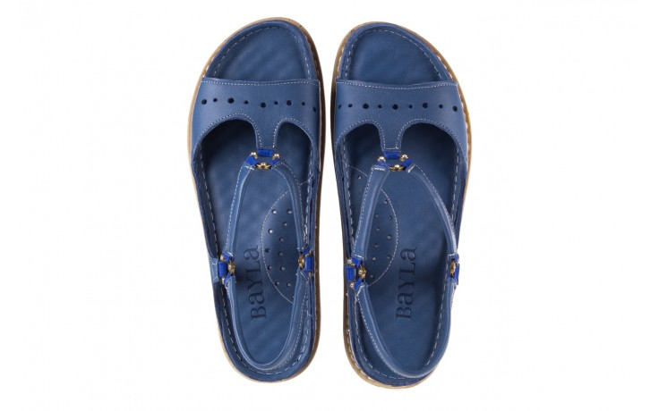 Sandały bayla-112 0089-114-8433 denim, niebieski, skóra naturalna  - bayla - nasze marki 4