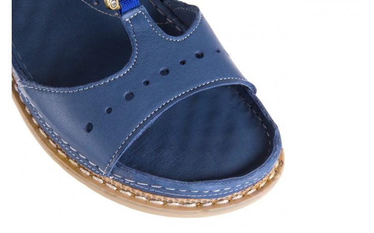Sandały bayla-112 0089-114-8433 denim, niebieski, skóra naturalna  - bayla - nasze marki 6