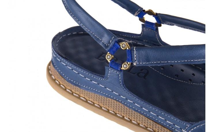 Sandały bayla-112 0089-114-8433 denim, niebieski, skóra naturalna  - bayla - nasze marki 5