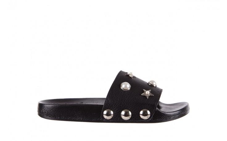 Klapki bayla-112 0550-096 black, czarny, skóra naturalna  - piankowe - klapki - buty damskie - kobieta