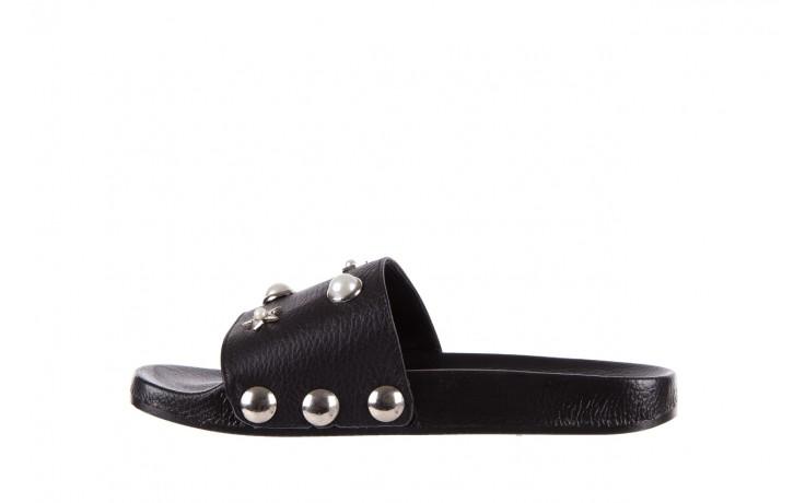 Klapki bayla-112 0550-096 black, czarny, skóra naturalna  - piankowe - klapki - buty damskie - kobieta 2