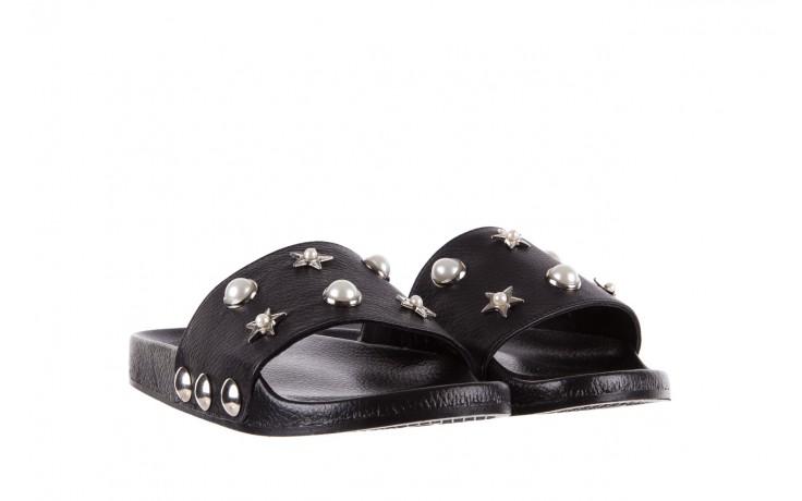 Klapki bayla-112 0550-096 black, czarny, skóra naturalna  - piankowe - klapki - buty damskie - kobieta 1