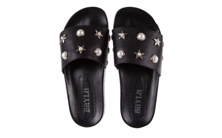 Klapki bayla-112 0550-096 black, czarny, skóra naturalna  - piankowe - klapki - buty damskie - kobieta 4