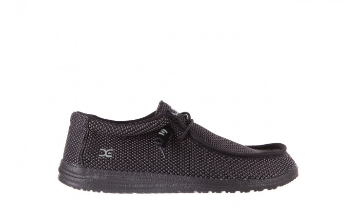 Półbuty heydude wally sox black, czarny, materiał  - heydude - nasze marki
