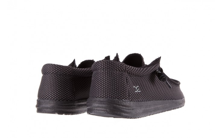 Półbuty heydude wally sox black, czarny, materiał  - heydude - nasze marki 3