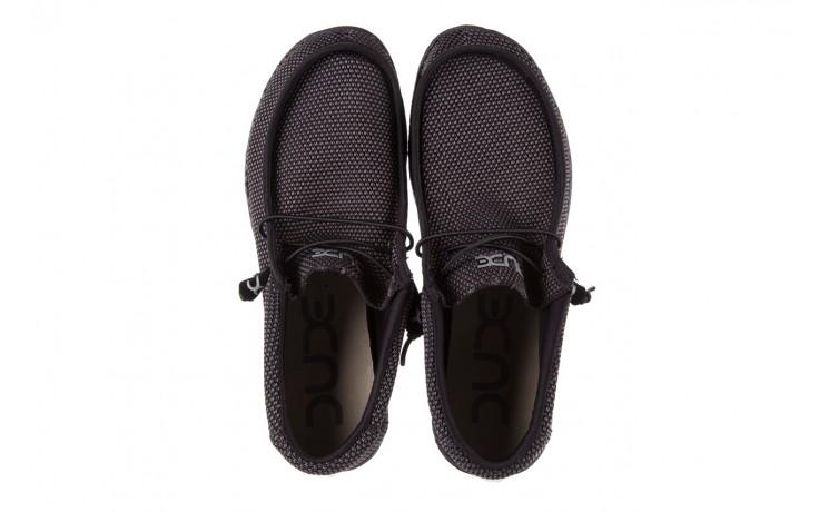 Półbuty heydude wally sox black, czarny, materiał  - heydude - nasze marki 4