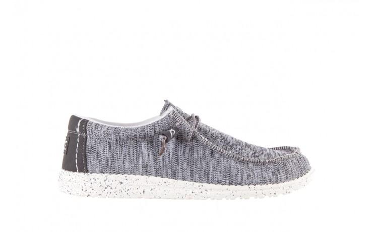 Półbuty heydude wally sox grey multi, szary, materiał  - heydude - nasze marki