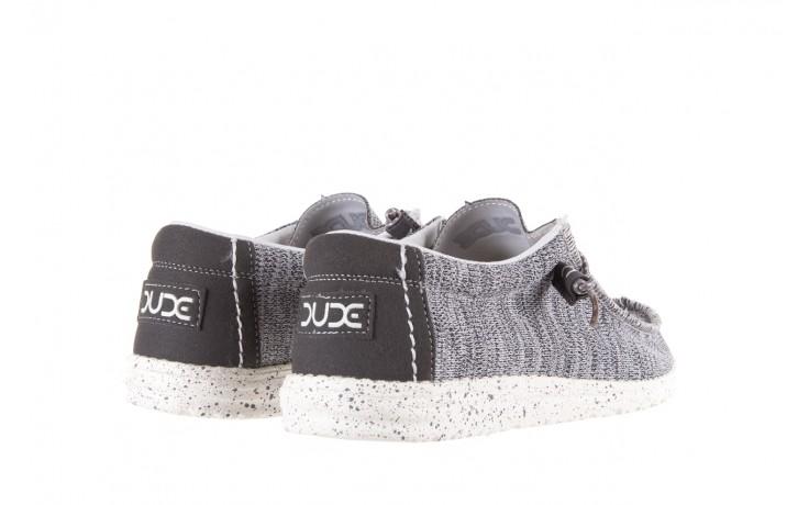 Półbuty heydude wally sox grey multi, szary, materiał  - heydude - nasze marki 3
