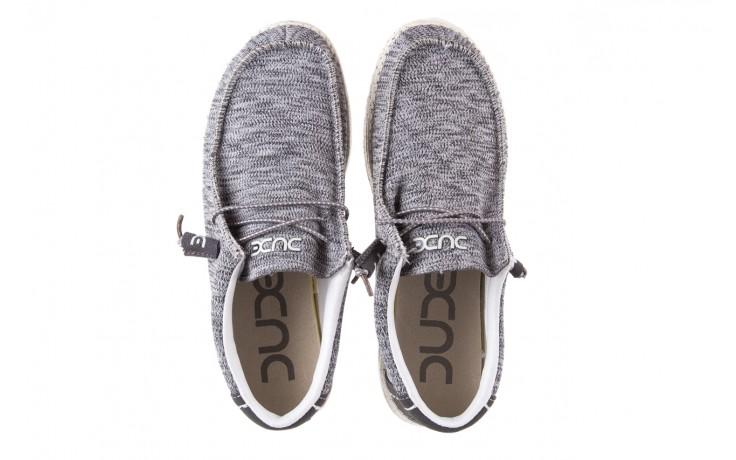 Półbuty heydude wally sox grey multi, szary, materiał  - heydude - nasze marki 4