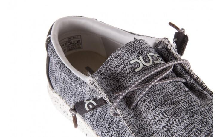 Półbuty heydude wally sox grey multi, szary, materiał  - heydude - nasze marki 5