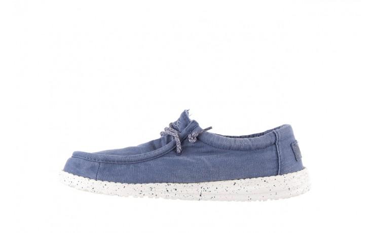 Półbuty heydude wally washed steel blue 19, niebieski, materiał - heydude - nasze marki 2