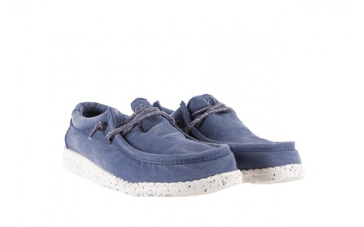 Półbuty heydude wally washed steel blue 19, niebieski, materiał - heydude - nasze marki 1