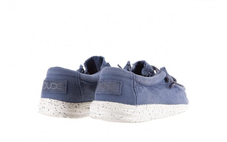Półbuty heydude wally washed steel blue 003137, niebieski, materiał - heydude - nasze marki 3