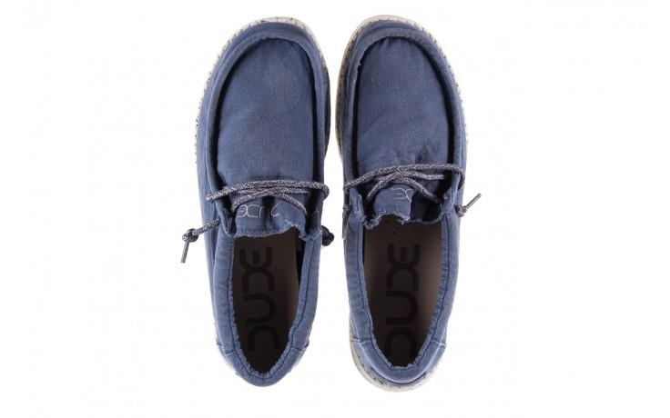 Półbuty heydude wally washed steel blue 003137, niebieski, materiał - heydude - nasze marki 4