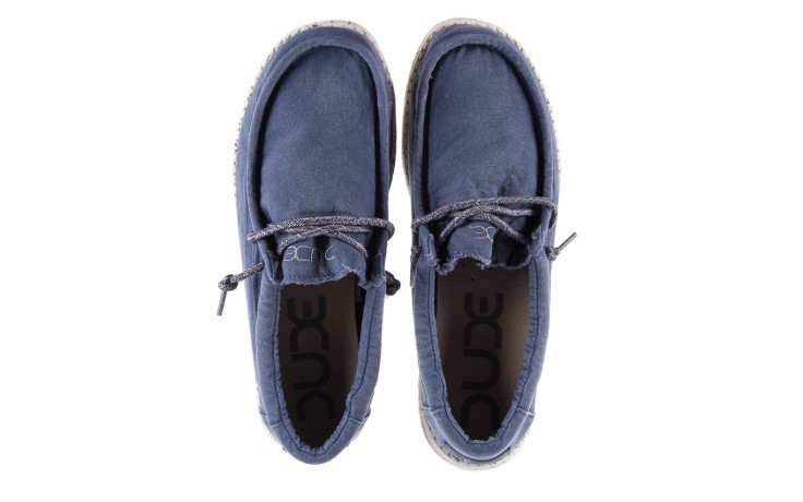 Półbuty heydude wally washed steel blue 19, niebieski, materiał - heydude - nasze marki 4