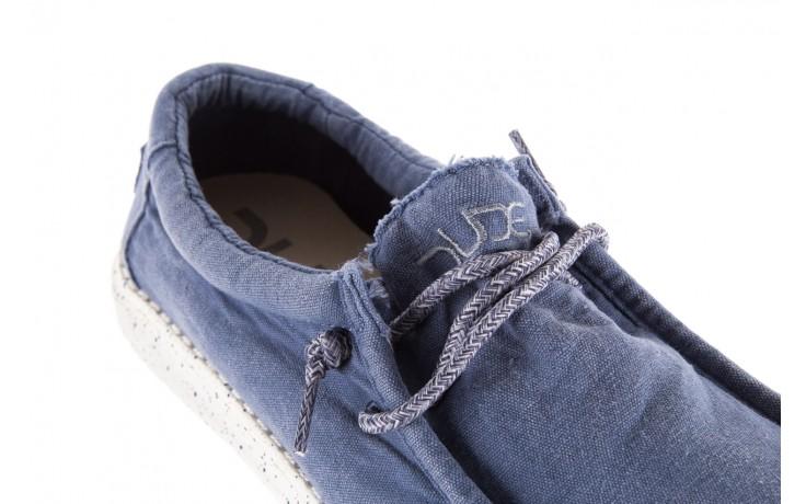Półbuty heydude wally washed steel blue 003137, niebieski, materiał - heydude - nasze marki 5