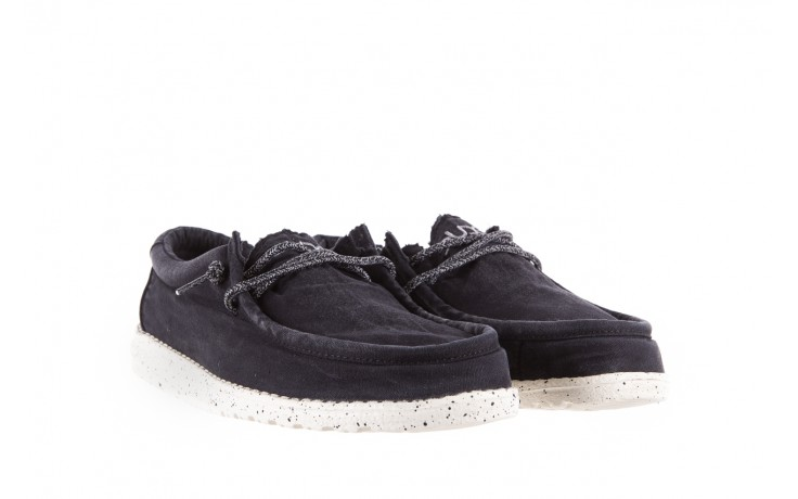 Półbuty heydude wally washed black, czarny, materiał - sportowe - półbuty - buty męskie - mężczyzna 1