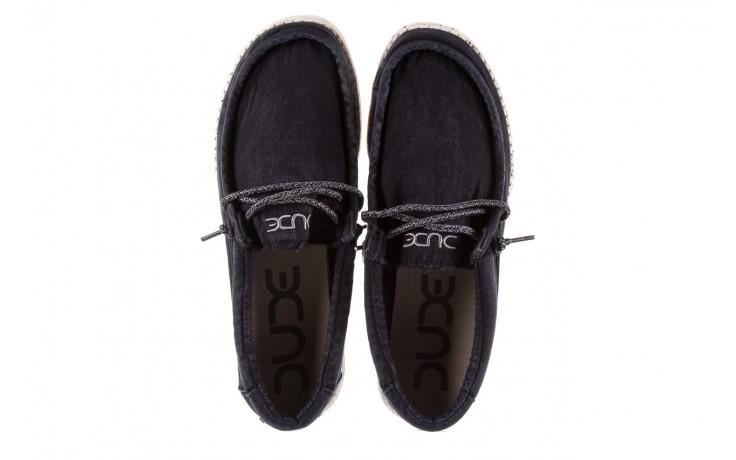Półbuty heydude wally washed black, czarny, materiał - sportowe - półbuty - buty męskie - mężczyzna 4