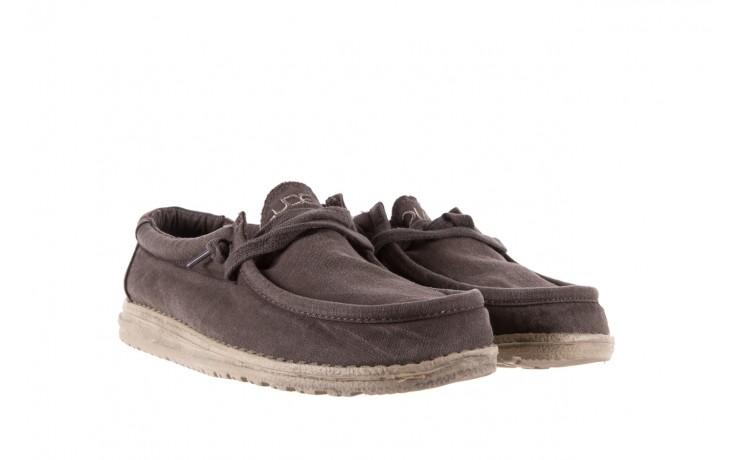 Półbuty heydude wally washed mud 003136, brąz, materiał - heydude - nasze marki 1