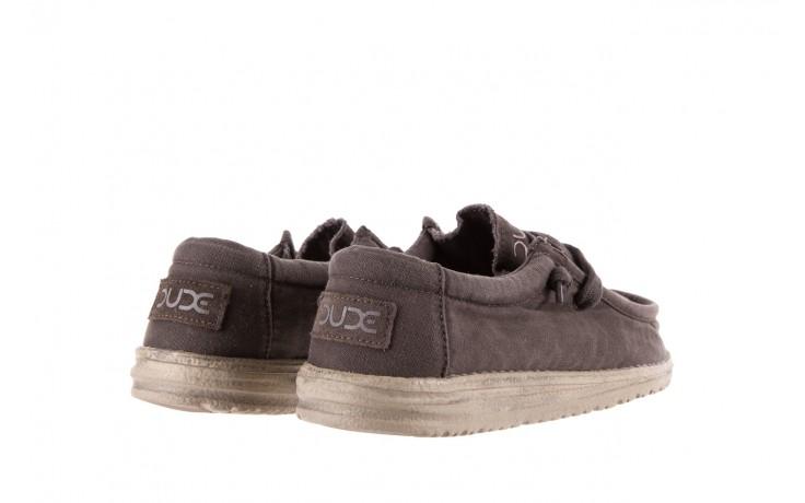 Półbuty heydude wally washed mud 003136, brąz, materiał - heydude - nasze marki 3