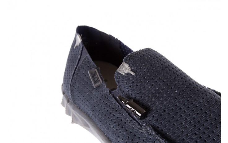 Półbuty heydude farty perforated navy 18, granat, materiał  - mokasyny i espadryle - buty męskie - mężczyzna 5