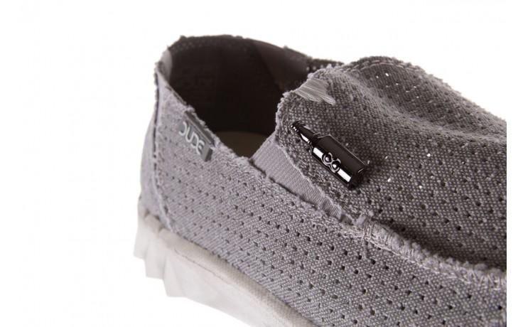 Półbuty heydude farty perforated light grey, szary, materiał - heydude - nasze marki 5